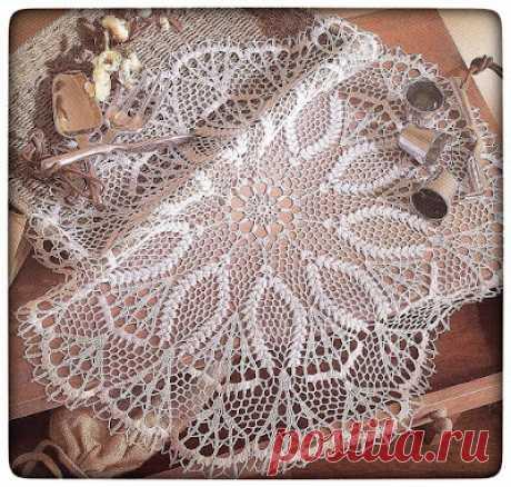 Crochet Heklanje: Šema 9 - Veća okrugla salveta