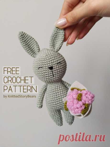 Little crochet bunny FREE PATTERN - KNITTED STORY BEARS