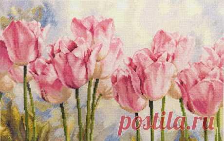"""Вышивалка: Алиса 2-37 """"Розовые тюльпаны"""""""