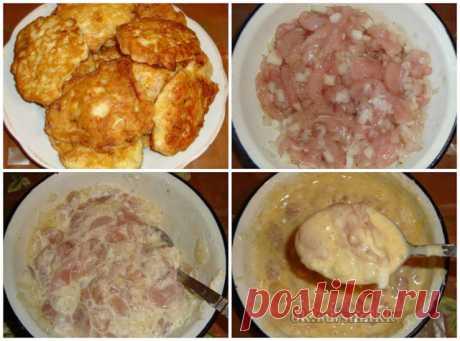 Вкусные рецепты: Куриные оладьи