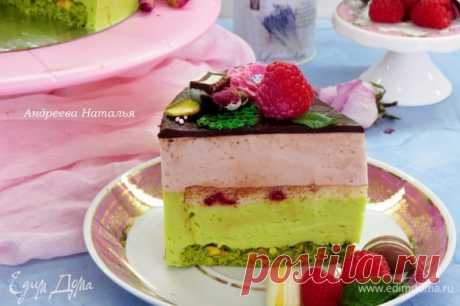 Торт «Птичье молоко» со вкусом малины, фисташек и розы, пошаговый рецепт на 7744 ккал, фото, ингредиенты - Наталья Андреева