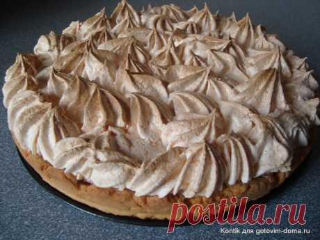 Пирог с вишней под воздушным безе • Пироги, пирожки, булочки, пончики