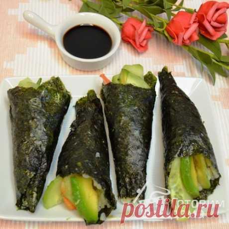 Temaki Темаки - пошаговый рецепт с фото на Готовим дома