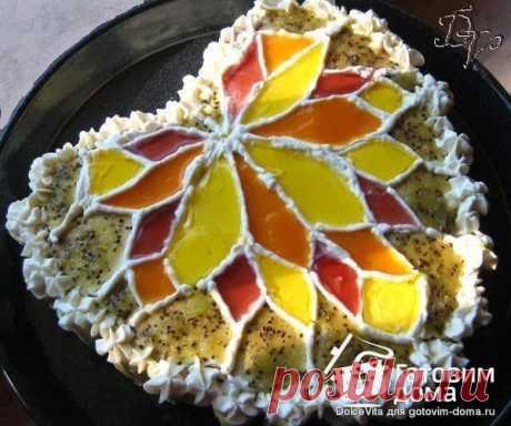 """Торт-витраж """"Осеннее очарование"""" - пошаговый рецепт с фото на Готовим дома"""