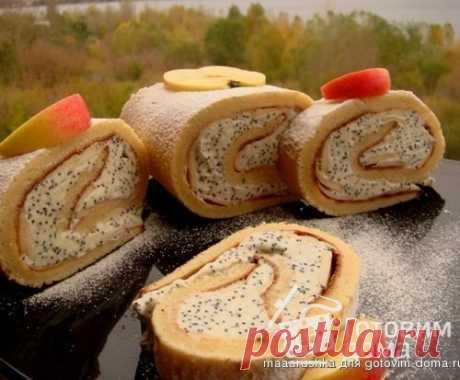 Рулет яблочно-маковый - пошаговый рецепт с фото на Готовим дома