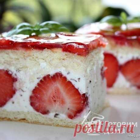 Пирожные с клубникой - пошаговый рецепт с фото на Готовим дома