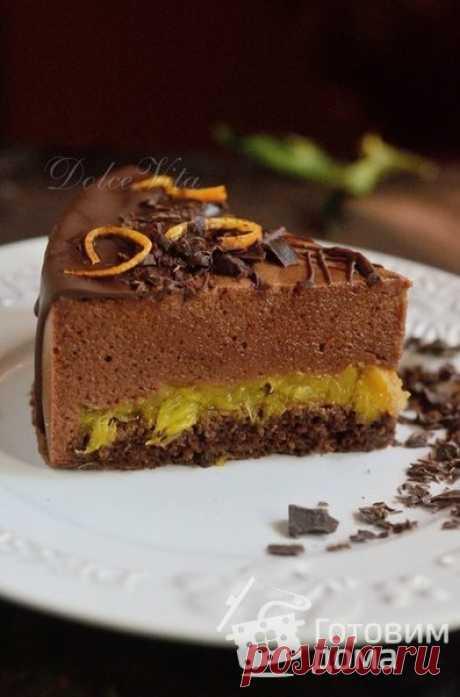 """Торт """"Шоколадно-апельсиновое Птичье молоко"""" - пошаговый рецепт с фото на Готовим дома"""