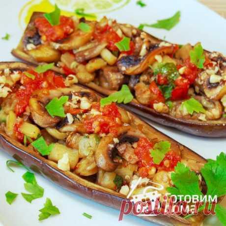 Баклажаны, фаршированные грибами - пошаговый рецепт с фото на Готовим дома