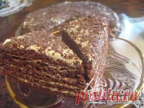 """Медовый торт """"Капучино"""" - пошаговый рецепт с фото"""