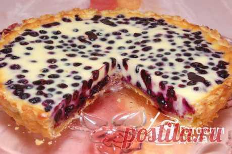 El pastel de arena con el arándano - poshagovyy la receta de la foto en Preparamos las casas