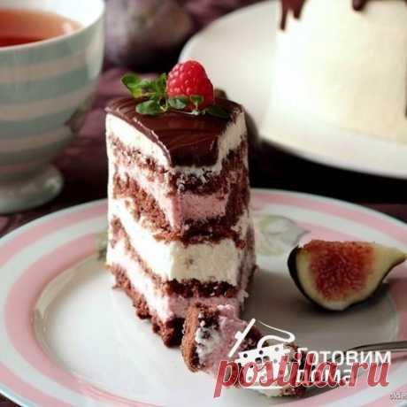 Рецепт Шоколадный торт с малиновым и лимонным кремом