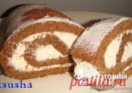 Кофейный рулет - пошаговый рецепт с фото на Готовим дома