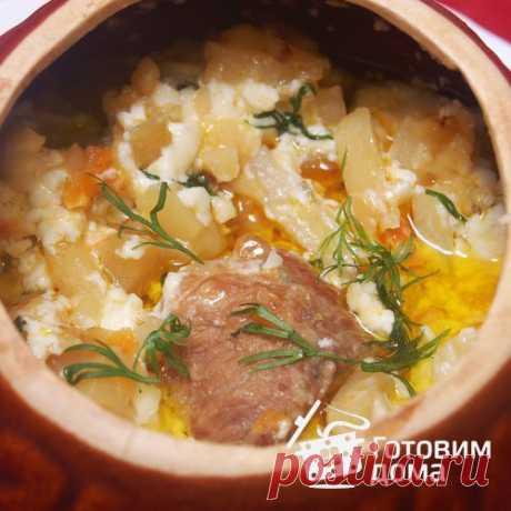 Мясо, запеченное с грибами и картофелем - пошаговый рецепт с фото на Готовим дома
