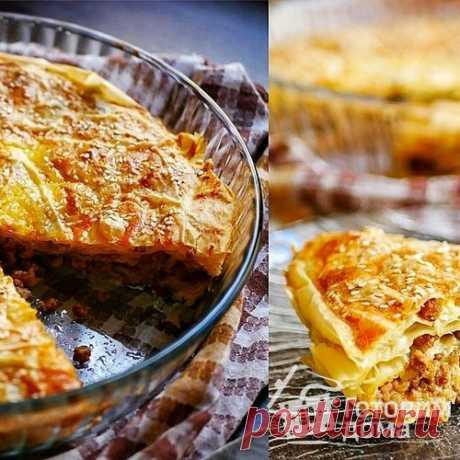 Пирог с мясом из теста фило - пошаговый рецепт с фото на Готовим дома