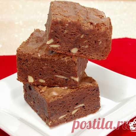 """Пирожное """"Брауниз"""" - пошаговый рецепт с фото на Готовим дома"""