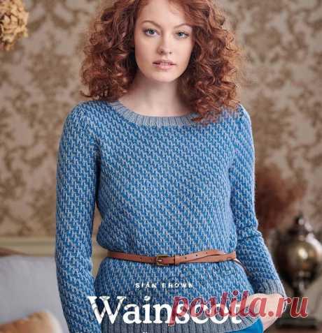 Классический пуловер спицами Wainscot - Хитсовет