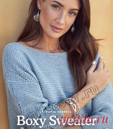 Вязание летнего пуловера Boxy Sweater - Хитсовет