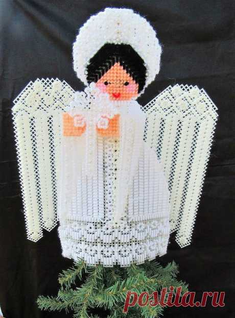 Vintage Plastic Canvas Pattern 12 Lacy Angel Christmas   Etsy
