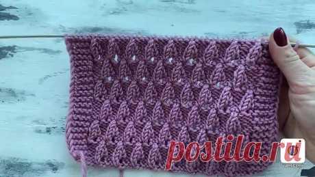Красивый ажурный узор спицами для вязания весенних кардиганов, джемперов, топов