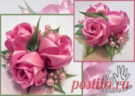 Роза из лент (Цветы из ткани) – Журнал Вдохновение Рукодельницы