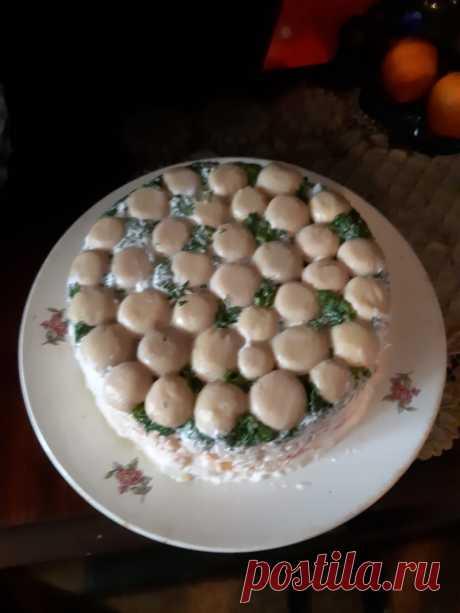 """Салат """"Грибная поляна"""" - пошаговый рецепт с фото на Повар.ру"""
