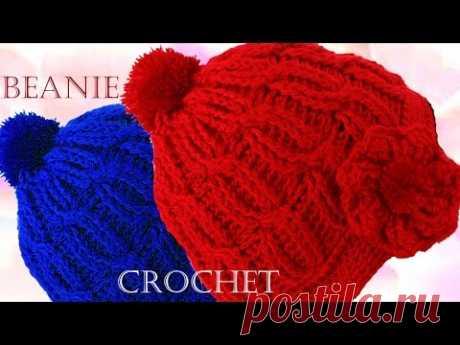 Como tejer un lindo gorro boina trenzado a Crochet o Ganchillo