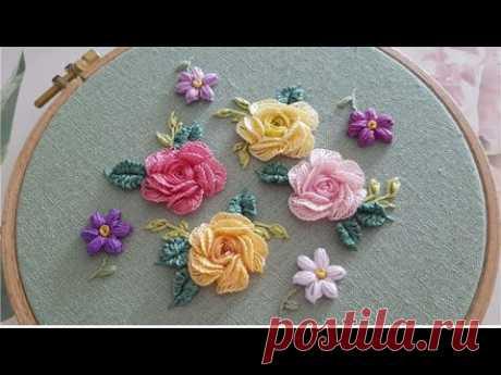[프랑스자수] 장미자수 Rose Embroidery