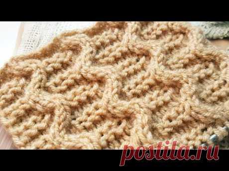 Эффектный узор спицами 🌺 knitting pattrern.