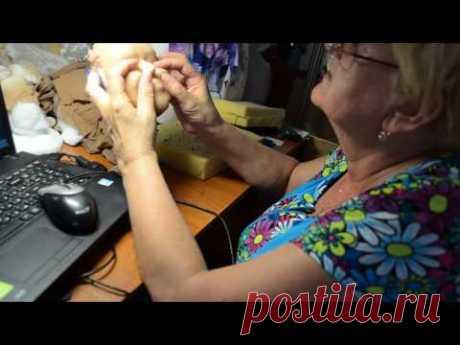 мастер класс по изготовлению скульптурной -текстильной куклы ч.8