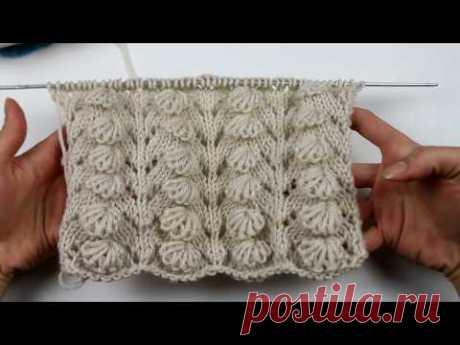 СУПЕР объеный турецкий узор Мидии или ДОЛЬКИ. Вязание спицами.