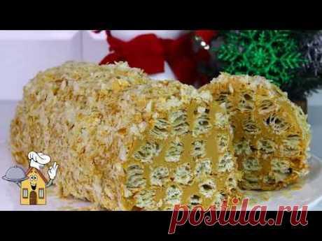 Невероятно вкусный и простой! Торт Рождественское Полено