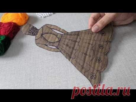 Amazing Hand Making Doll design trick | Super Easy Hand Embroidery design idea