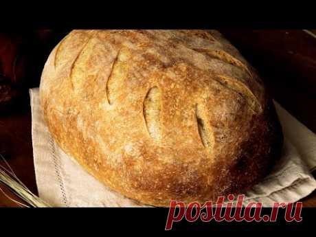 Домашний ХЛЕБ *Деревенский* на пшеничной закваске//Homemade BREAD *Rustic * with wheat sourdough