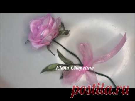 Роза из атласной ленты. Как сделать розу своими руками.