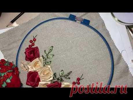 Прямой эфир по вышивке лентами