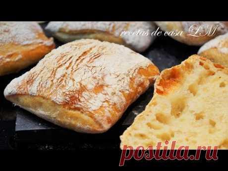 PAN DE CHAPATA O CIABATTA PAN SIN AMASAR PARA SANDWICH