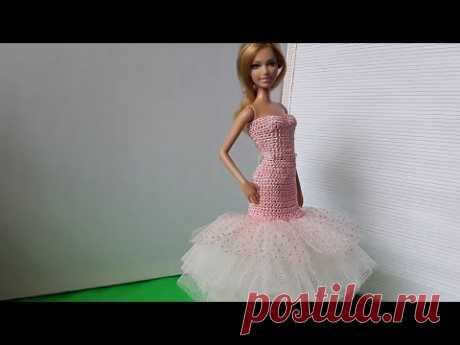 Комбинированный урок вязания и шитья. Платье для Барби. Мастер-класс.