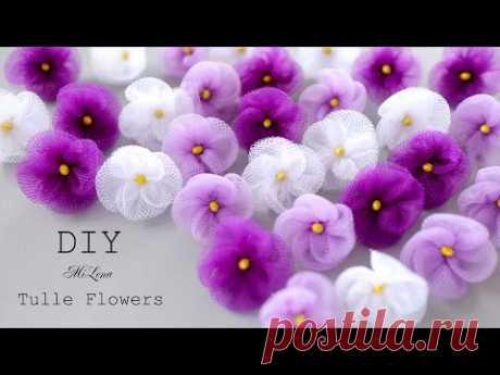 🌸 ЦВЕТЫ ИЗ ФАТИНА 🌸 TULLE FLOWERS 🌸