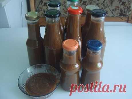 La salsa de las ciruelas para el invierno
