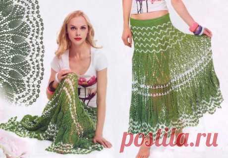 Красивые модели летних юбок вязаных крючком