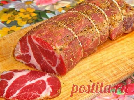 Хватит покупать сомнительную дорогую колбасу - сыровяленое чесночное мясо Самый ценный рецепт в моей копилке!