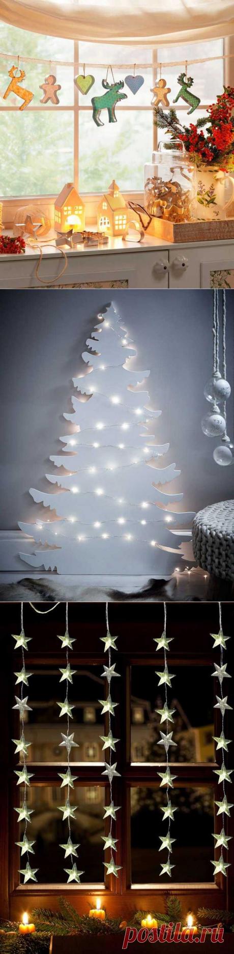 Идеи новогоднего декора для дома, квартиры, комнаты