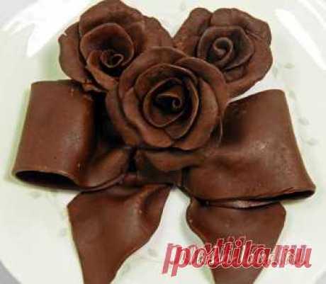 Шоколадная мастика - Рецепты украшений