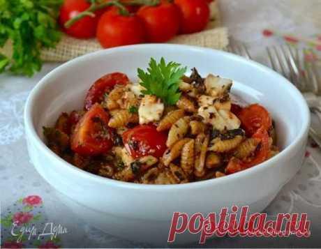 Паста по-сардински. Ингредиенты: маслины, каперсы, оливковое масло Extra Virgin