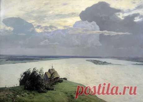 """""""Над вечным покоем"""", Левитан, 1894"""