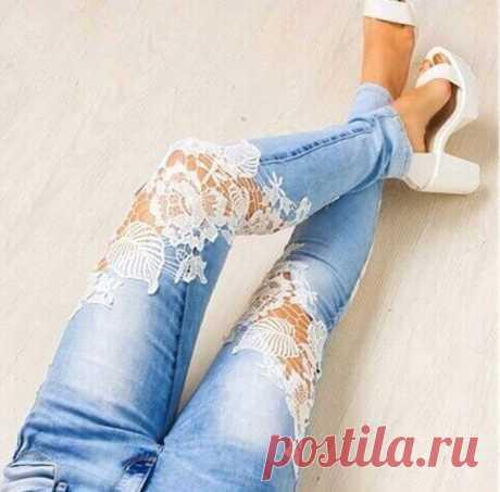 Как вдохнуть в старые джинсы новую жизнь