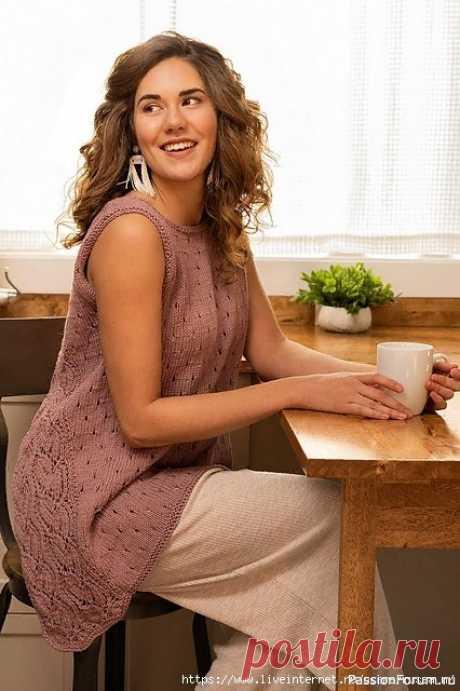 ТУНИКА Lilac Lace от Estefania Espindola | Вязание для женщин спицами. Схемы вязания спицами