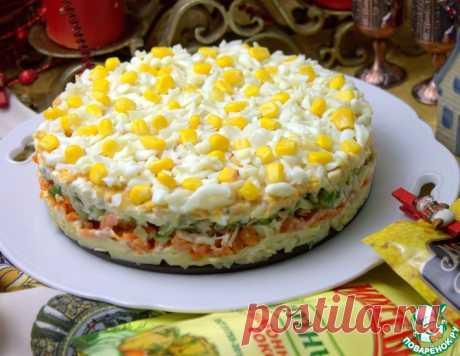 Закусочный торт с печенью трески – кулинарный рецепт