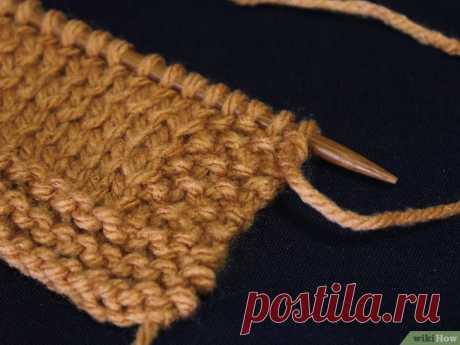 Как избежать закручивания краев шарфа во время его вязки