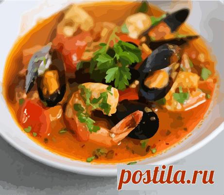 """Рецепт супа """"Морской коктейль"""" - Рецептик.РУ"""
